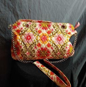 Vera Bradley Folkloric purse w/Cloth& Chain handle